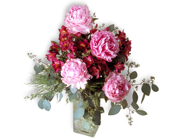 flower of the month club peonies arrangement